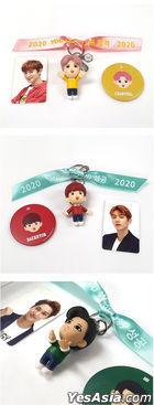 EXO Figure Keyring 2020 YOU WIN Edition (2020 Ribbon + Photo Card + Mirror) (Chan Yeol) (Type B / Pink)