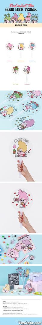 Red Velvet Loves GOOD LUCK TROLLS - Clear Fan (Irene Troll) (Pink)