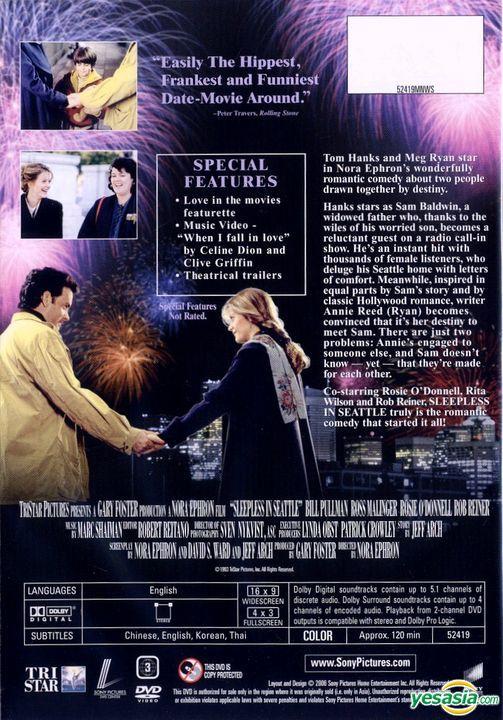 Yesasia Sleepless In Seattle 1993 Dvd Deluxe Edition Hong Kong Version Dvd Tom Hanks Rita Wilson Intercontinental Video Hk Western World Movies Videos Free Shipping