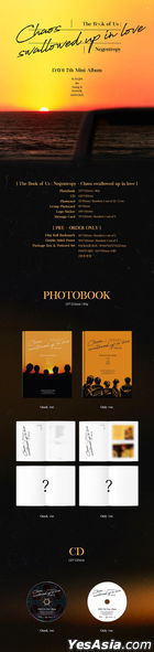 DAY6 Mini Album Vol. 7 - The Book of Us : Negentropy - Chaos swallowed up in love (One& + Only Version) + 2 Random First Press Limited Gifts + Package Box + Postcard Set