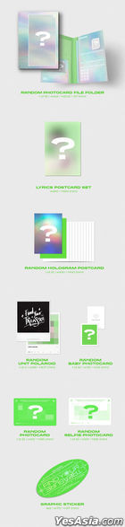 TREASURE Vol. 1 - THE FIRST STEP : TREASURE EFFECT (GREEN Version) + Double Sided Poster in Tube