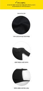 Cotton 100% Black Mask