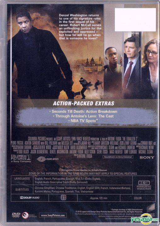 Yesasia The Equalizer 2 2018 Dvd Hong Kong Version Dvd Denzel Washington Pedro Pascal Intercontinental Video Hk Western World Movies Videos Free Shipping North America Site