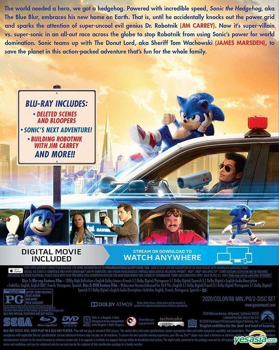 Yesasia Sonic The Hedgehog 2020 Blu Ray Dvd Digital Us Version Blu Ray Jim Carrey James Marsden Paramount Home Entertainment Western World Movies Videos Free Shipping North America Site