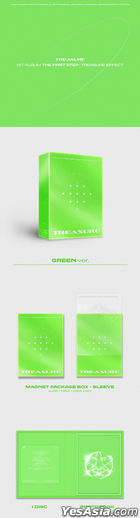 TREASURE Vol. 1 - THE FIRST STEP : TREASURE EFFECT (BLUE + GREEN + ORANGE Version) + Double Sided Poster in Tube