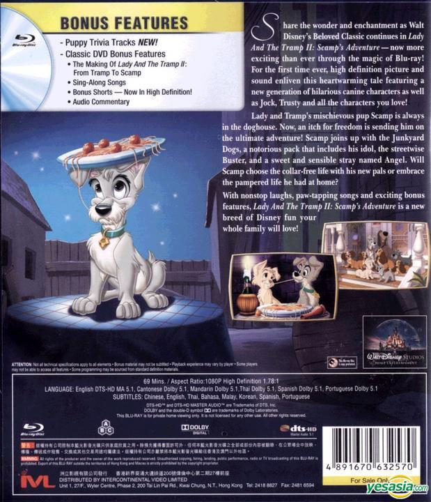 Yesasia Lady And The Tramp 2 2001 Blu Ray Scamp S Adventure Special Edition Hong Kong Version Blu Ray Intercontinental Video Hk Western World Movies Videos Free Shipping North America Site