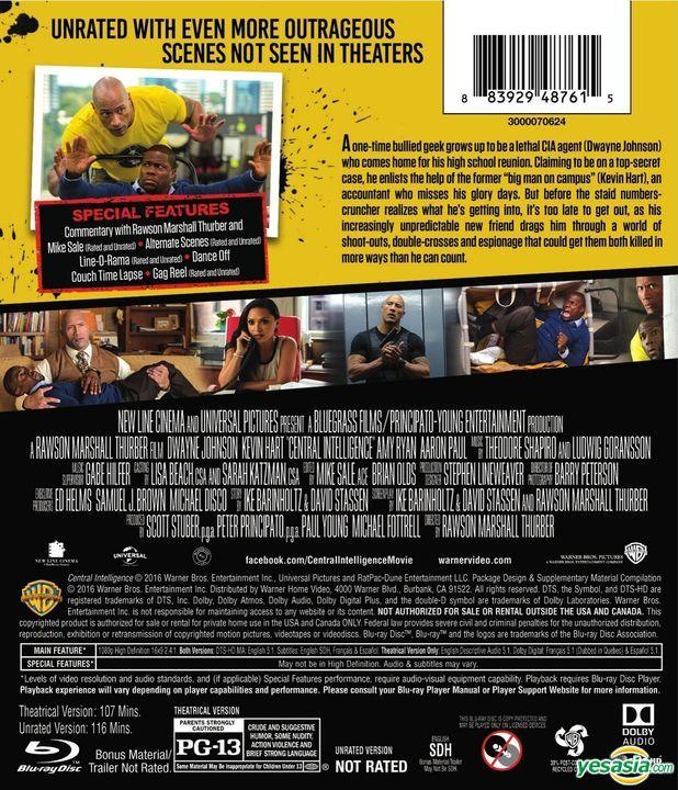 Yesasia Central Intelligence 2016 Blu Ray Us Version Blu Ray Dwayne Johnson Danielle Nicolet Warner Entertainment Japan Western World Movies Videos Free Shipping