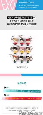 EXO Figure Keyring 2020 YOU WIN Edition (2020 Ribbon + Photo Card + Mirror) (Baek Hyun) (Type B / Pink)
