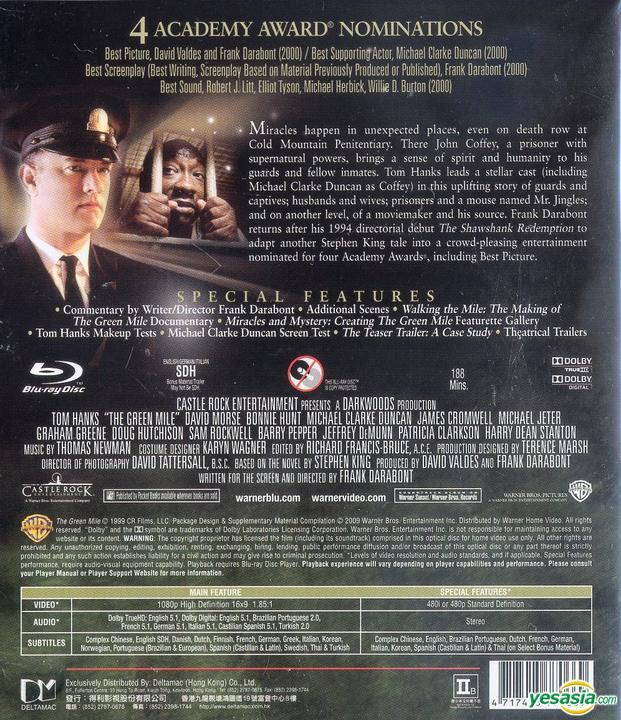 Yesasia The Green Mile 1999 Blu Ray Hong Kong Version Blu Ray Bonnie Hunt David Morse Warner Home Video Hk Western World Movies Videos Free Shipping