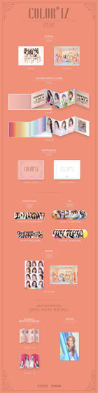 IZ*ONE Mini Album Vol. 1 - COLOR*IZ (Random Version) + 2 Posters in Tube (Random Group Version + Jang Won Young Version)