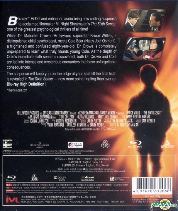 Yesasia The Sixth Sense 1999 Blu Ray Hong Kong Version Blu Ray Haley Joel Osment Bruce Willis Intercontinental Video Hk Western World Movies Videos Free Shipping