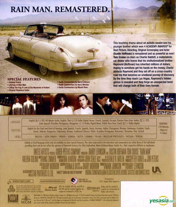 Yesasia Rain Man 1988 Blu Ray Remastered In 4k Hong Kong Version Blu Ray Tom Cruise Dustin Hoffman Mgm Hk Western World Movies Videos Free Shipping North America Site