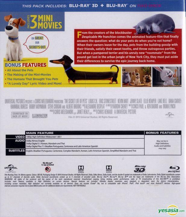 Yesasia The Secret Life Of Pets 2016 Blu Ray 3d 2d Hong Kong Version Blu Ray Yarrow Cheney Chris Renaud Intercontinental Video Hk Western World Movies Videos Free