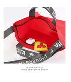 BT21 Lettering Eco Bag (Chimmy) (Gray)