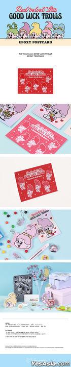 Red Velvet Loves GOOD LUCK TROLLS - Epoxy Postcard