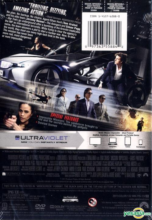 Yesasia Mission Impossible Ghost Protocol 2011 Dvd Us Version Dvd Tom Cruise Jeremy Renner Paramount Home Entertainment Western World Movies Videos Free Shipping