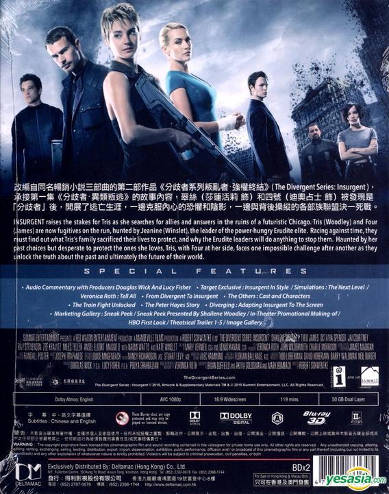 Yesasia The Divergent Series Insurgent 2015 Blu Ray 2d 3d Hong Kong Version Blu Ray Theo James Ansel Elgort Deltamac Hk Western World Movies Videos Free Shipping