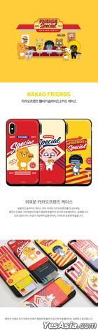 Kakao Friends - Hamburger Slide Card Phone Case (Apeach) (iPhone X / XS)