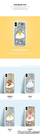 GCASE LINE FRIENDS Glitter Case Twinkle Series (iPhone X/XS) (Brown)
