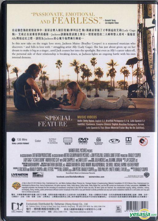 Yesasia A Star Is Born 2018 Dvd Hong Kong Version Dvd Bradley Cooper Lady Gaga Deltamac Hk Western World Movies Videos Free Shipping