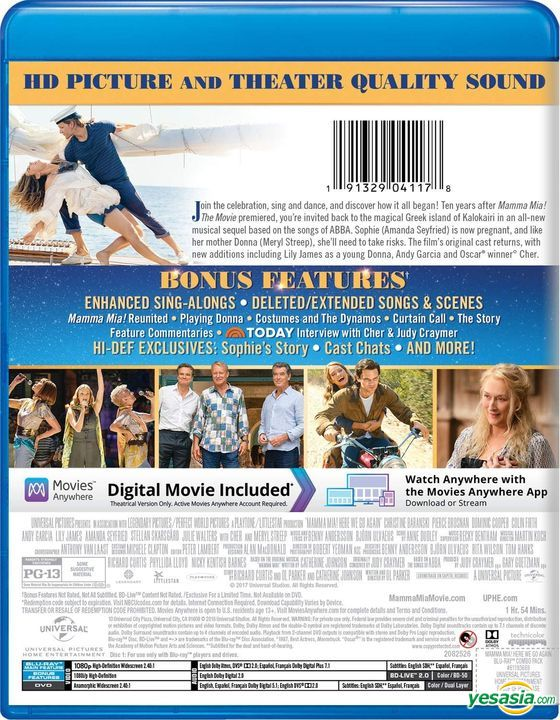 Yesasia Mamma Mia Here We Go Again 2018 Blu Ray Us Version Blu Ray Pierce Brosnan Amanda Seyfried Universal Studios Home Video Western World Movies Videos Free Shipping