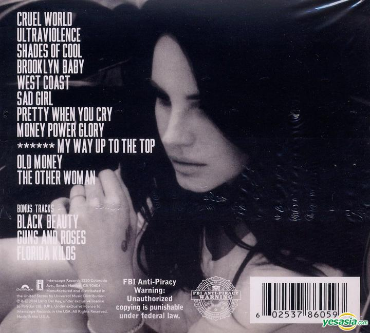 Yesasia Ultraviolence Deluxe Edition Us Version Cd Lana Del Rey Interscope Records Western World Music Free Shipping