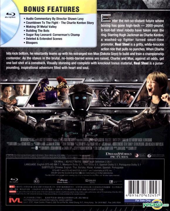 Yesasia Real Steel 2011 Blu Ray Hong Kong Version Blu Ray Hugh Jackman Evangeline Lilly Intercontinental Video Hk Western World Movies Videos Free Shipping